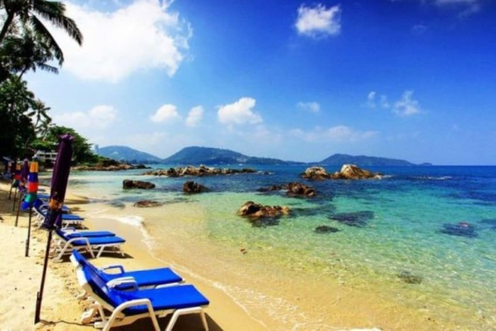 The beautiful north end of Patong Beach.