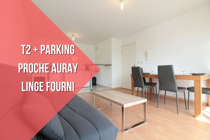 RECENT T2 + LINEN PROVIDED + PARKING - Pluneret - Wohnung