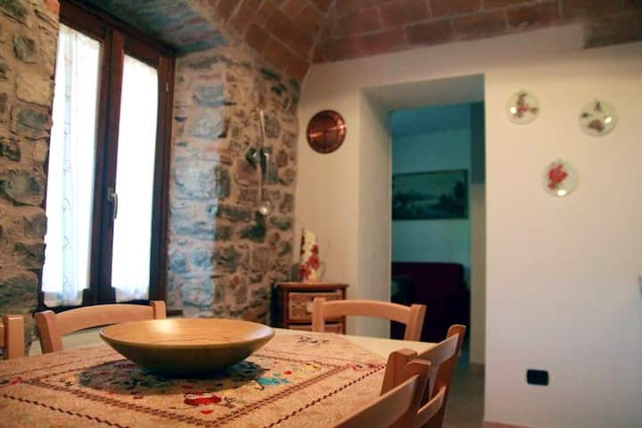 Apartment with one bedroom in Orturano, with wonderful city view, enclosed garden and WiFi - 25 km from the slopes