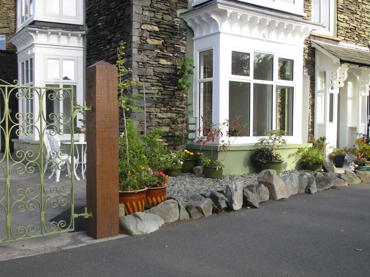 Entire Ground Floor Front Entrance to Parkside Cottage by Lake Windermere.