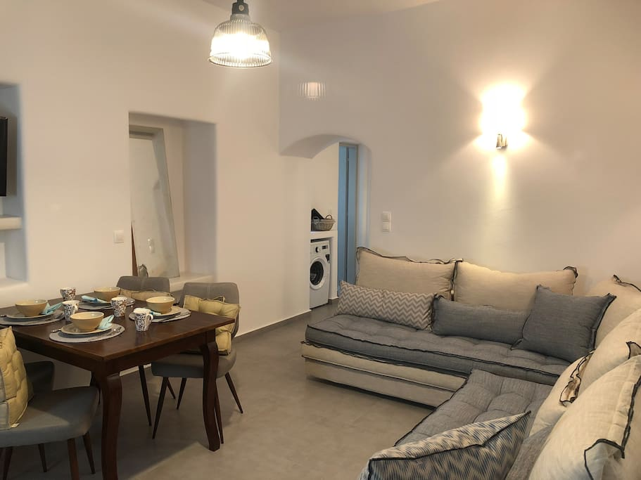 Living room with 2 sofa beds