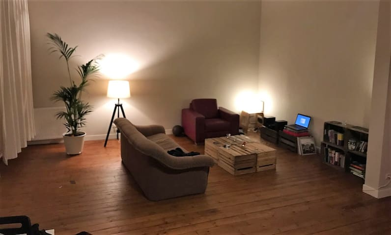Private bedroom in big appartment with twin bed - Antwerpen
