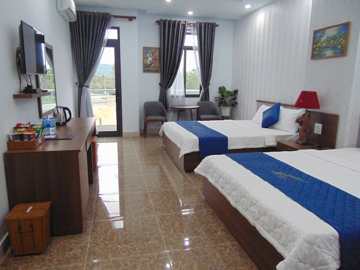 2BEDS FOR 4ADULTS, FREE AIRPORT, NEAR  BEACH 02