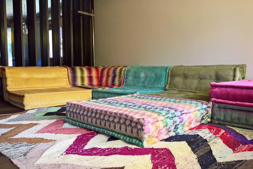 Sitzlandschaft im Wohnzimmer