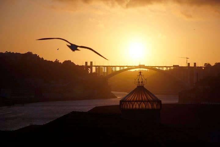 ..Sunny River View Room Porto City Center