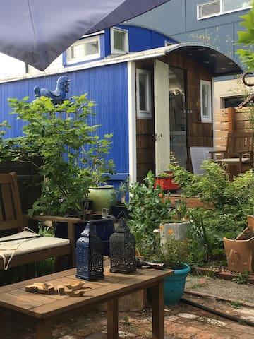Blue bird tiny house