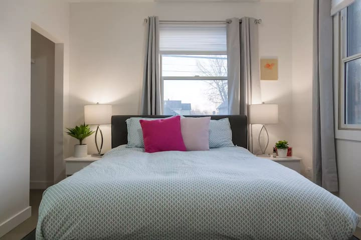 Rave reviews for the mattresses!  All new and comfortable for an amazing night's sleep.