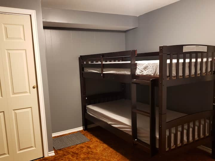 Private Bunk Bed Room 1 in Uptown Niagara Falls