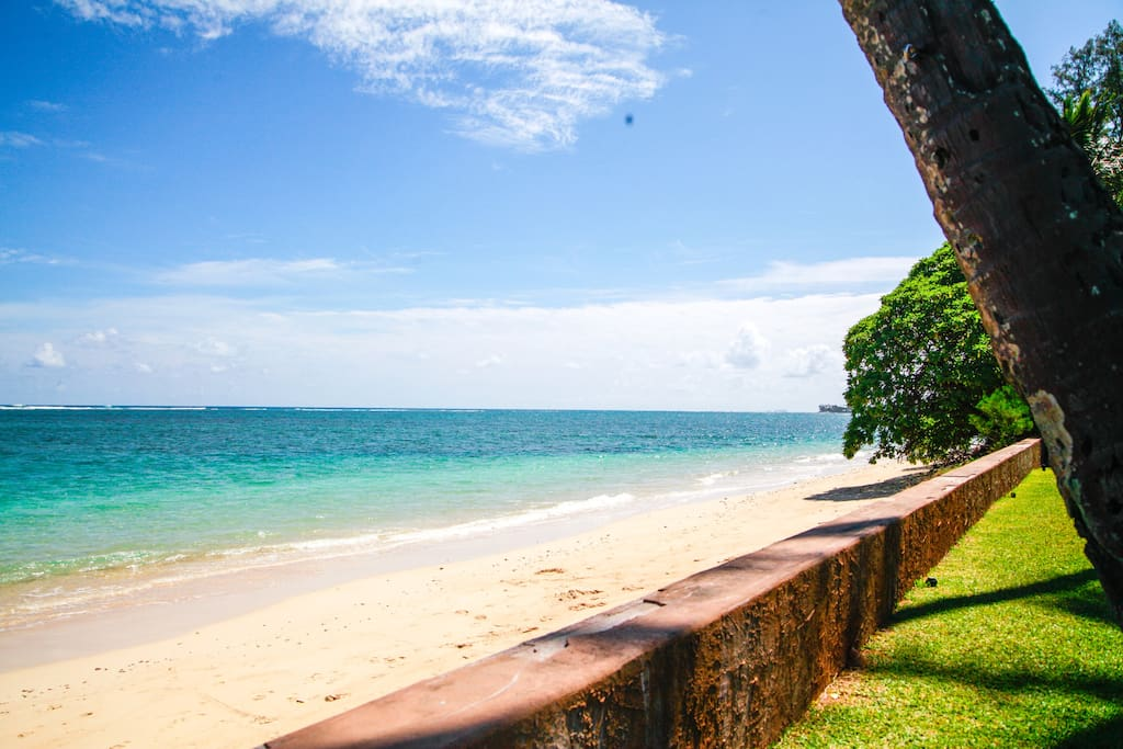 JUST STEPS AWAY FROM THE BEACH! This is a perfect beach for kayaks, paddle boards, snorkeling and swimming