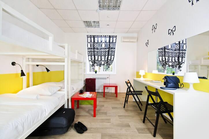 Кровать в 4-местном женском номере - Ростов-на-Дону - Bed & Breakfast