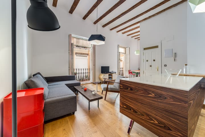 Fashion apartment in old Valencia city