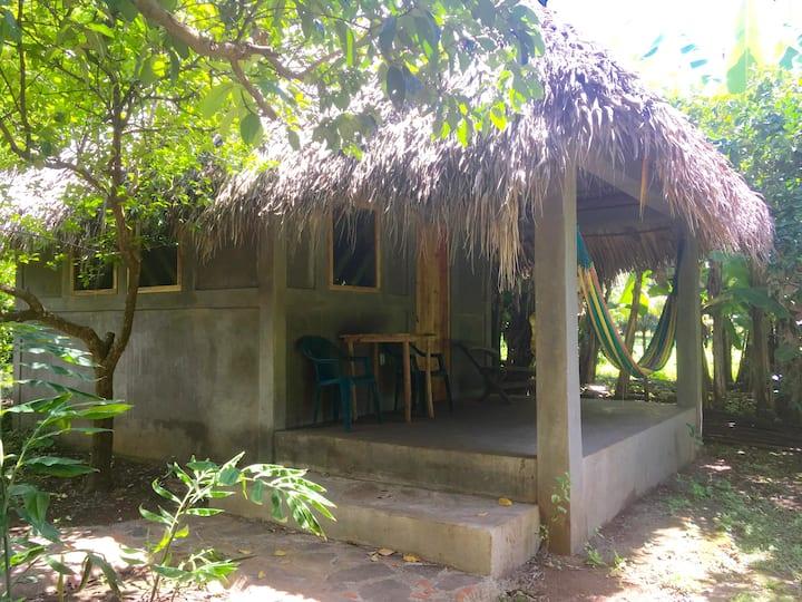 Simple cabana on a 2-acre farm close to beach