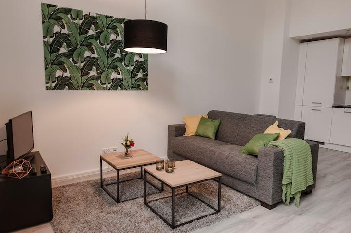 Bright, new-built split level apartment