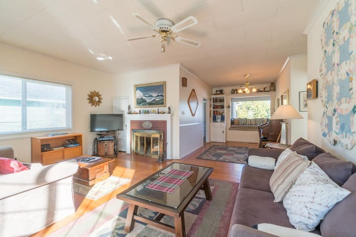 Comfortable home w/ ocean view, tranquil backyard & nearby beach access!