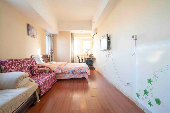 万达舒适家庭房(全套厨具、洗衣机、可月租)