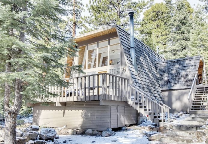 (Modern and Sanitized): A-Frame Cabin in the Woods