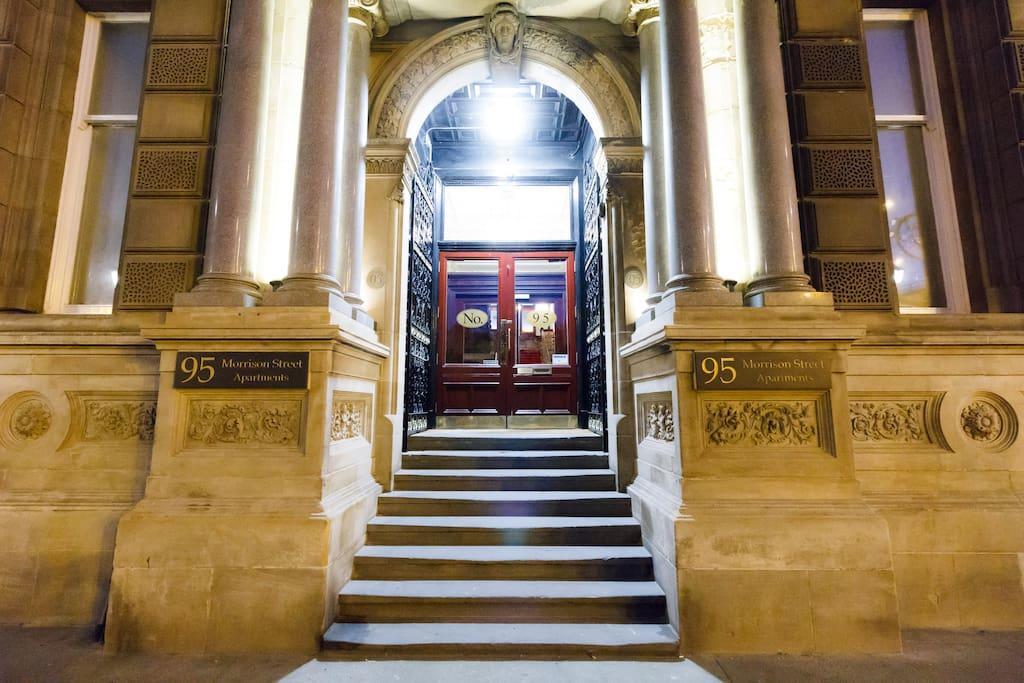 Front Door of Building