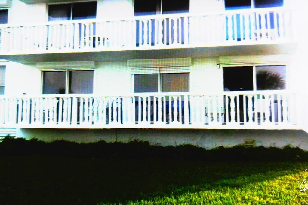 Bottom balcony is ours
