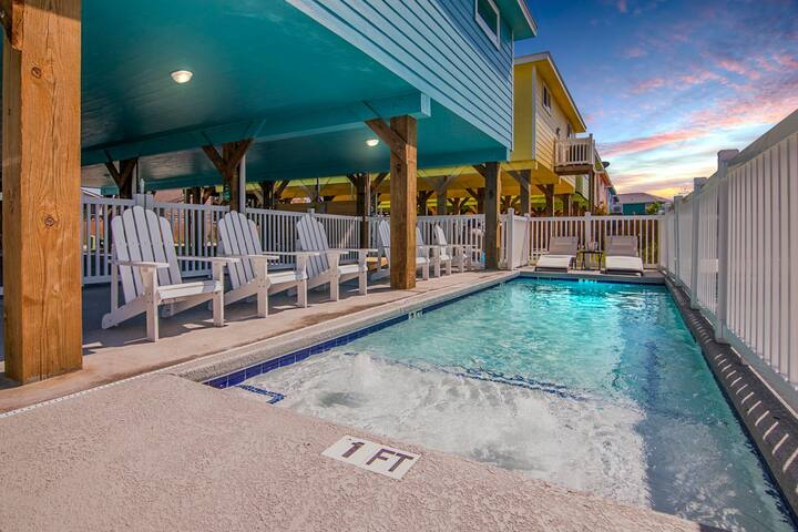 New, Private Heated Pool, Walk to Beach str#547318