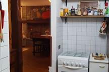 cucina con vista salone