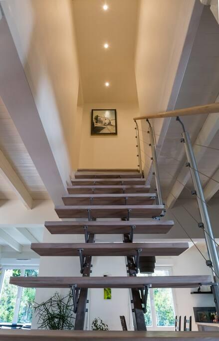 escalier pour le premier étage