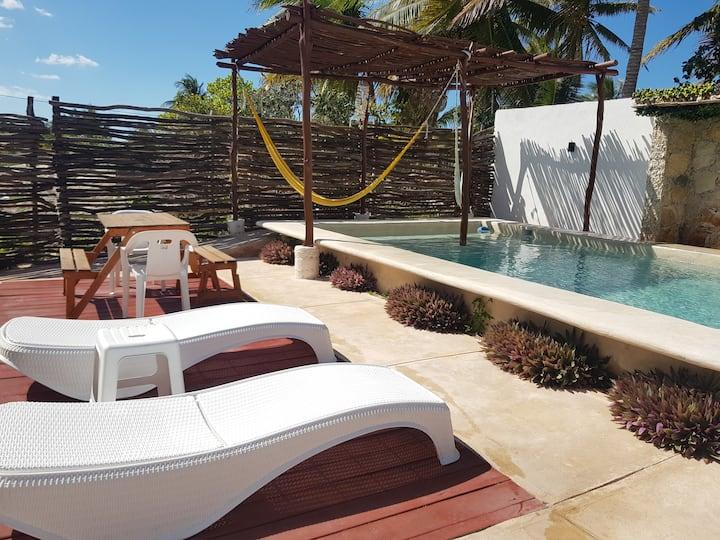 Villa Sac-Beh ; 2 camas matrimonial wifi