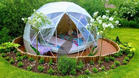 ❤ Bulle-igloo Chez Lila des bois, jacuzzi, piscine