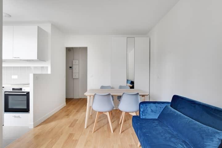 Superbe studio rénové meublé Paris 5ème/13ème