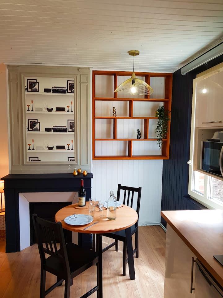 L'Or Noir-  Studio cosy sur les quais de St Valery