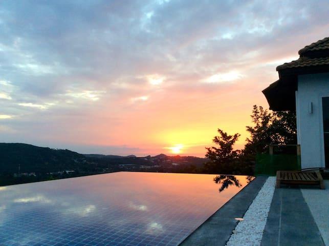 Bophut Hills 3 bedroom villa with amazing sea view