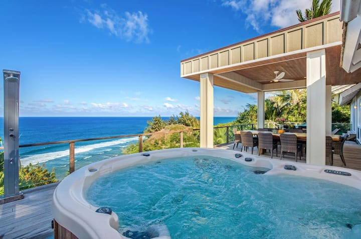 North Shore Kauai Villa with Magnificent Views Aug 24-Sept 14
