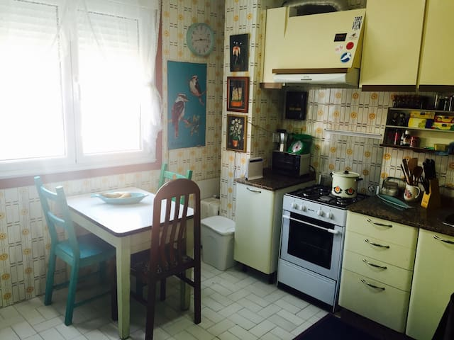 Lovely & central one/two bed flat - Cangas - Daire