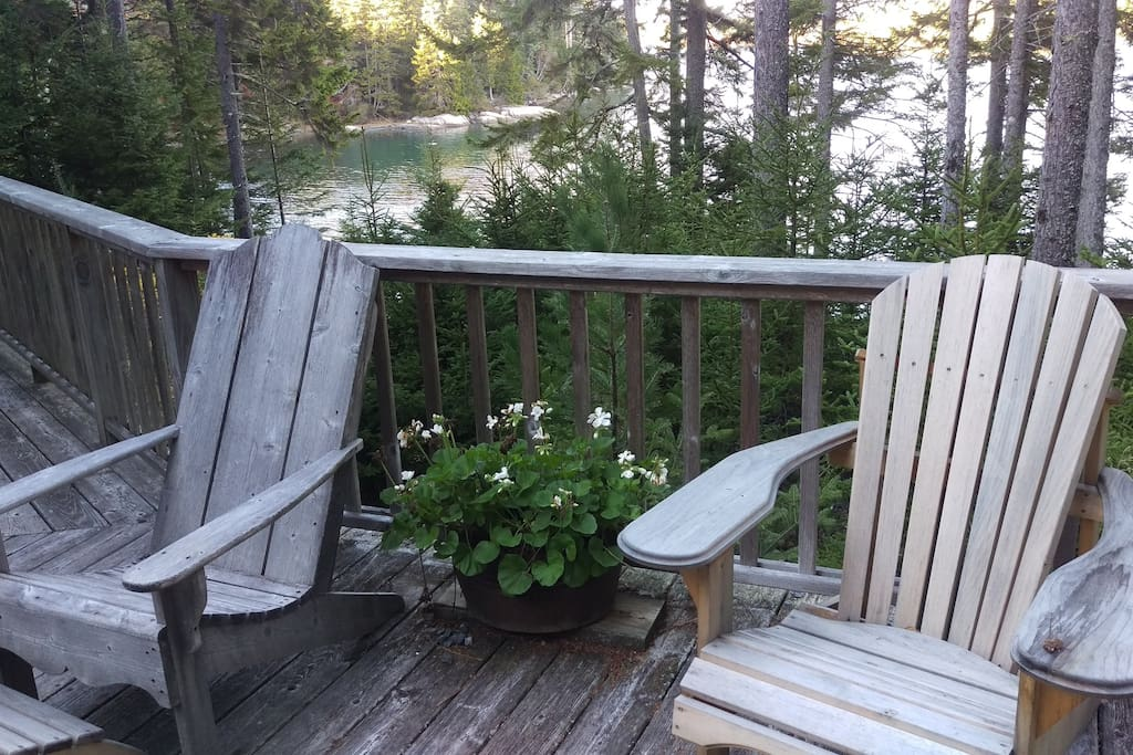 Our peaceful back deck -- all yours!