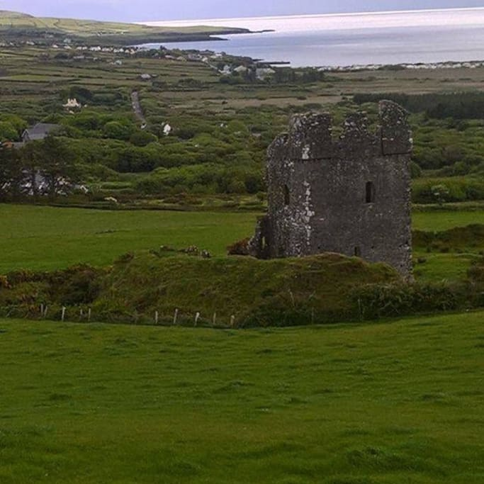 Rathanane castle looking down on Ventry harbor