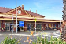 Train station close to the beach and cafes