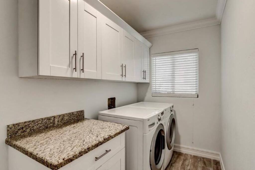 Brand new washer/dryer for your convenience.