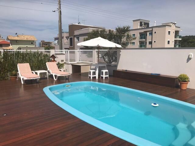 Casa c/ piscina em Palmas, 500m da praia - Governador Celso Ramos - Casa