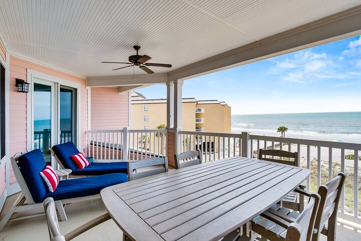 Third floor penthouse, beach and ocean views, private front porch entrance and