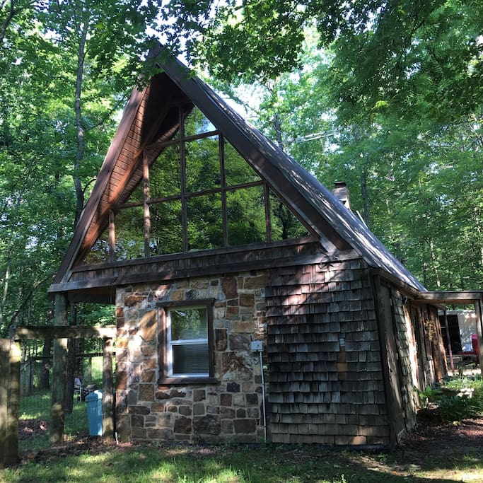 This is a  double-rock walled Cabin,whose walls date to the early 60's.  But inside these foot-thick walls is a custom built, one of a kind retreat.