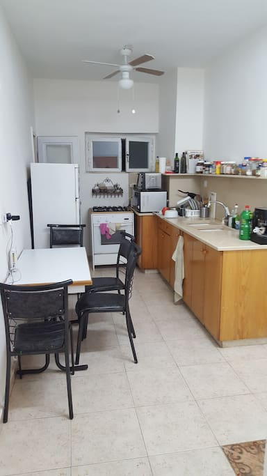 Great well equped kitchen. the table open up and can be use for more pepole. Alot of room and possibilities to cook.