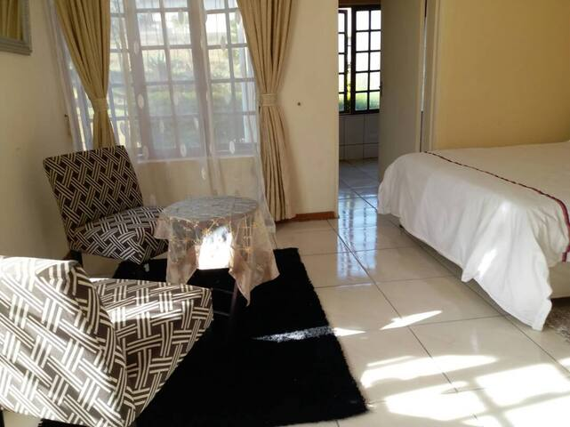 Master bedroom in guesthouse in central Ezulwini