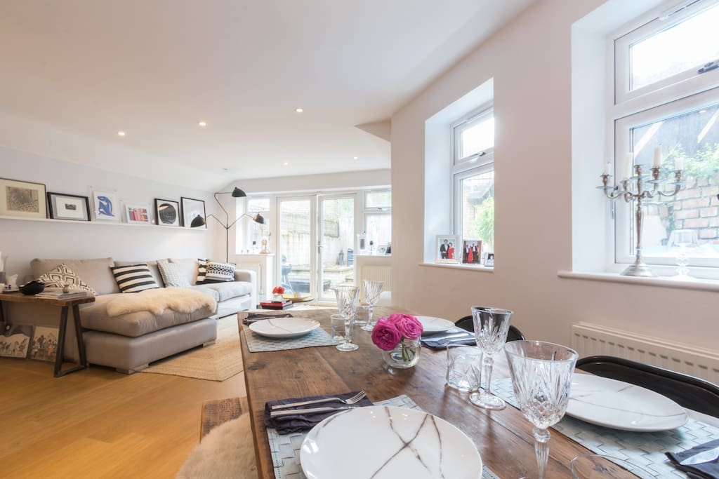 Luxury flat with private garden apartments for rent in for Best private dining rooms west end london