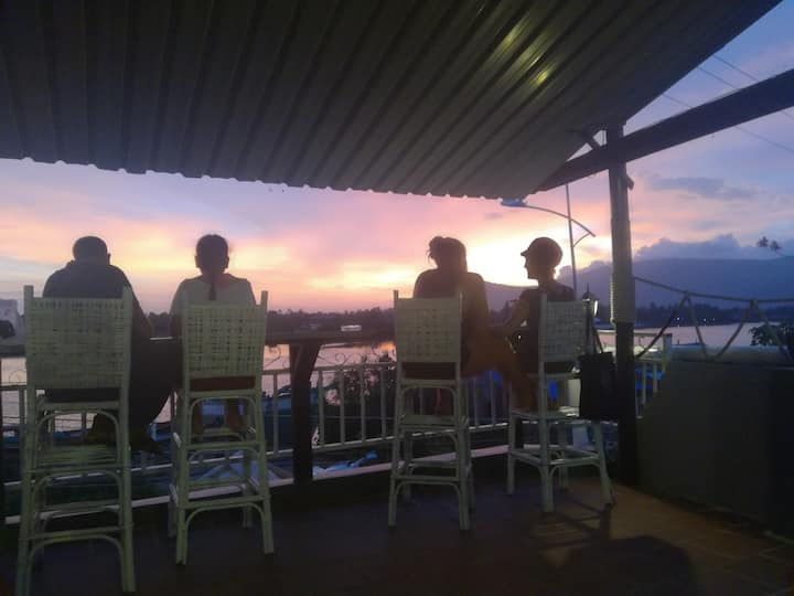 Best Rooftop view in Kampot, The Last Resort