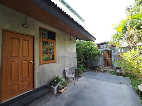 Private room was surrounding by Tropical garden.