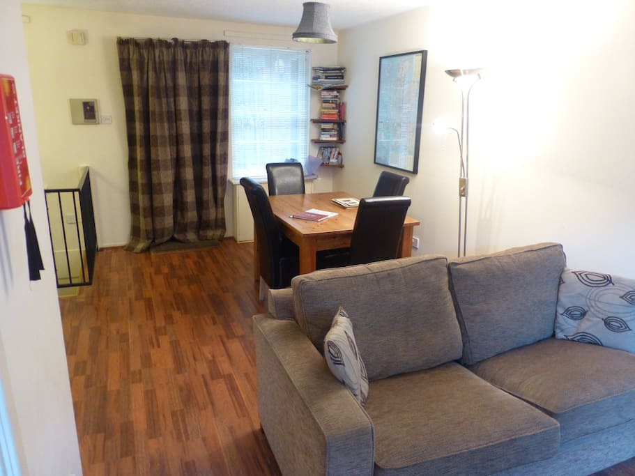 Another view of the livingroom and dining area