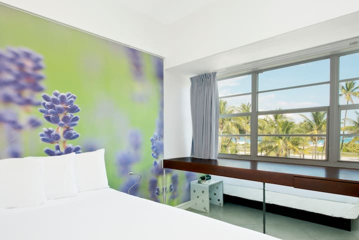 Oceanview Room with King Bed & Breakfast - Just across from beach