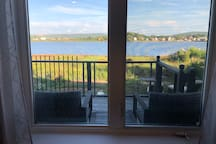 Water front 8 x 10 ft deck.  Enjoying the BBQ, sun rises and watching the tides rising and falling with Annapolis Royal reflecting back at you.