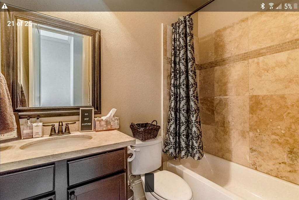 guest bathroom, totally private
