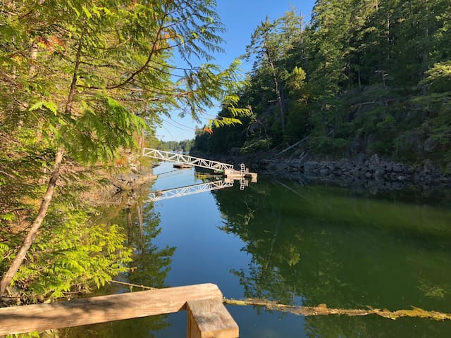 Looking down the serene Cove from Treehouse wharf