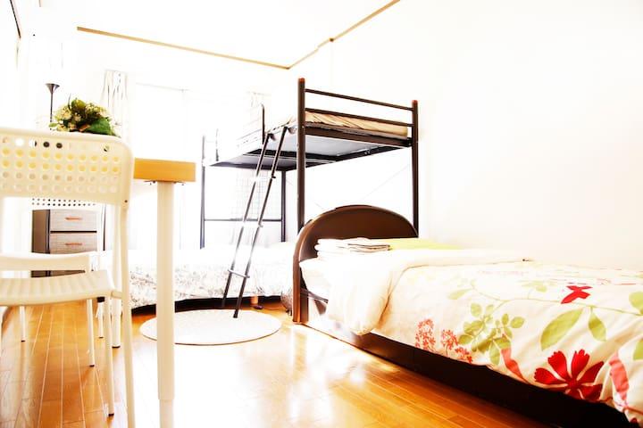 IKEBUKURO LUCKY HOTEL ---4 guests,pocket WIFI,